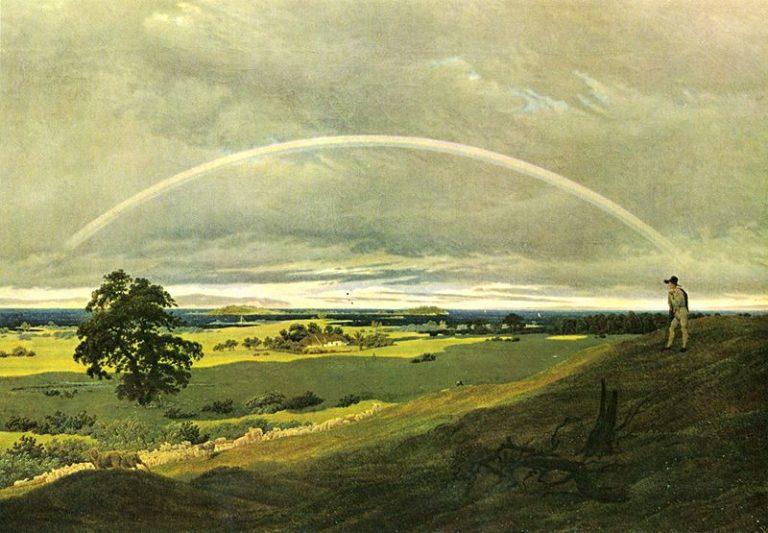 paesaggio con arcobaleno (scomparso nel 1945)